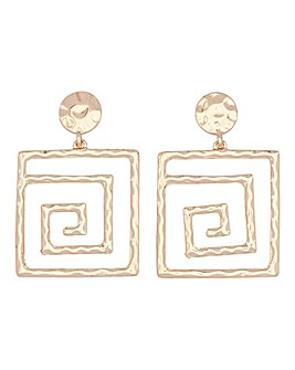Square Egyptian Drop Earrings