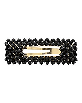 Black Facet Hair Clip
