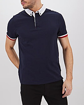 Smart Woven Collar Polo Long