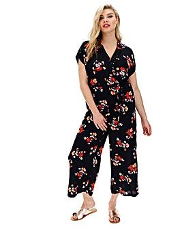 Vero Moda Floral Print TieWaist Jumpsuit