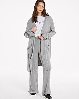 Grey Rib Cardigan