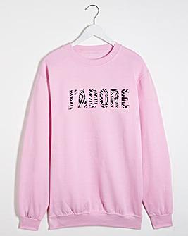 J'Adore Print Front Sweatshirt
