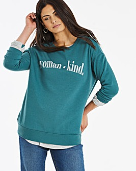 Womankind Slogan Sweatshirt