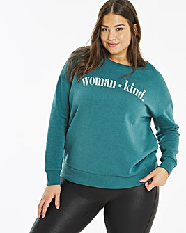 Womankind Slogan Sweatshirt