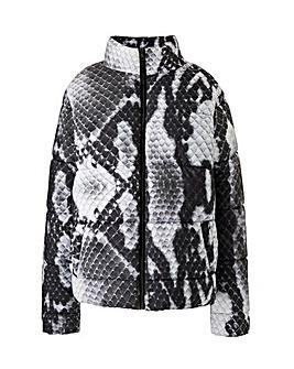 Lasula Snake Printed Puffer Jacket