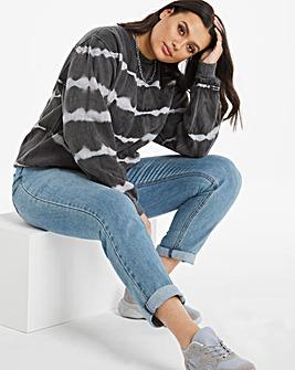 Grey Tie-Dye Sweatshirt