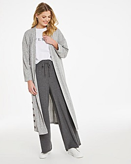 Soft Touch Button Trim Cardigan