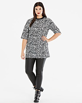 Lasula Zebra Printed T-Shirt Dress
