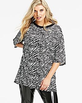 Lasula Zebra Oversized T-Shirt