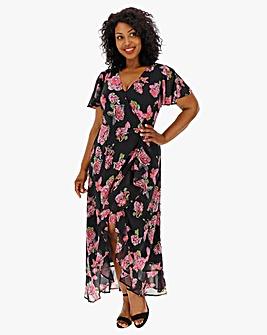 Lovedrobe Printed Wrap Maxi Dress