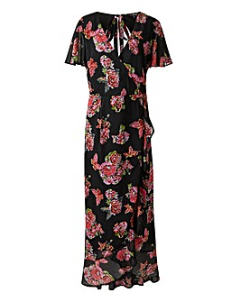 Lovedrobe Printed Wrap Maxi Dress