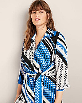 Violeta By Mango Abstract Print Blouse