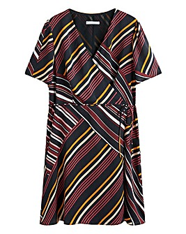 Violeta By Mango Stripe Print Dress