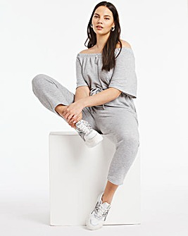 Grey Marl Drawstring Waist Jumpsuit
