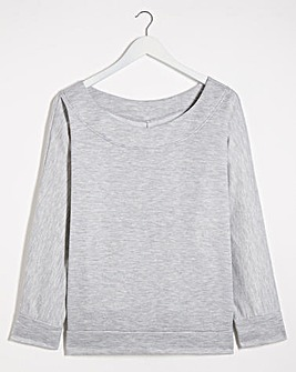 Grey Marl Off the Shoulder Sweatshirt