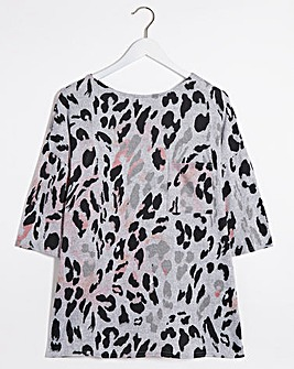 Printed Soft Touch Side Pocket Tunic