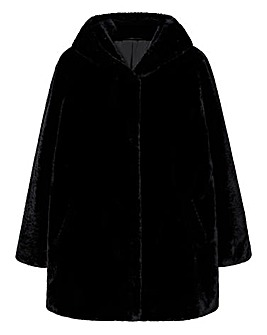 Violeta By Mango Hooded Faux Fur Coat