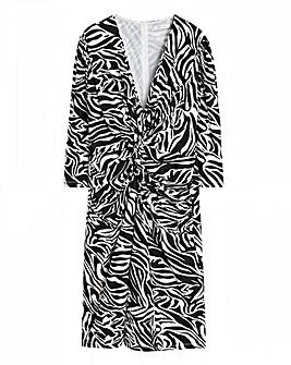 Violeta By Mango Zebra Print Dress