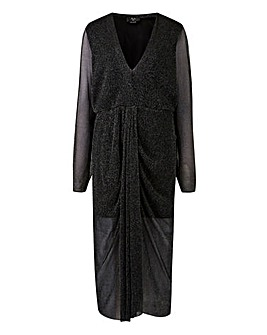AX Paris Curve Glitter Kimono Dress