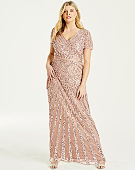Maya Curve Sequin Maxi Dress