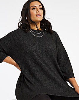 Black Soft Touch Side Pocket Tunic