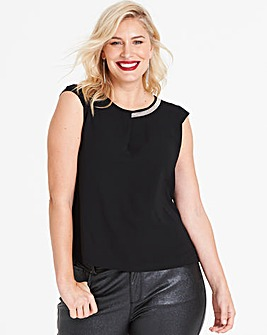 Anna Field Metallic Neckline Detail Top