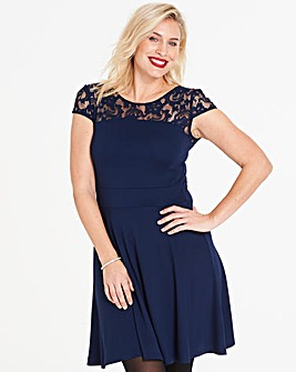 Anna Field Lace Short Sleeve Dress