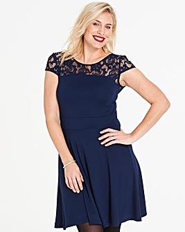 Anna Field Lace Short Sleeve Dress
