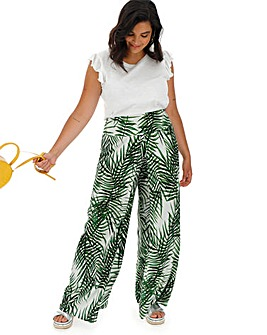 Apricot Palm Print Trousers