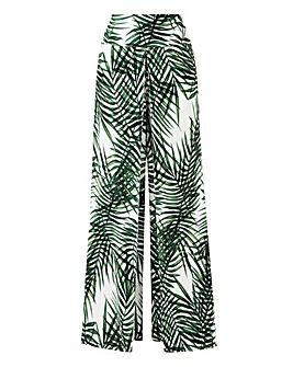 Apricot Palm Print Trousers
