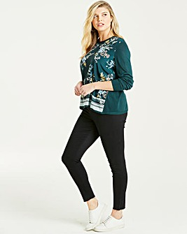 Oasis Curve Winter Jasmin Floral Top