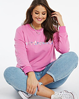 Overdressed Slogan Sweatshirt