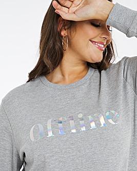 Offline Iridescent Slogan Sweatshirt