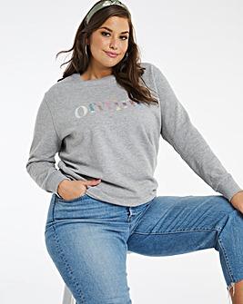 Offline Slogan Sweatshirt