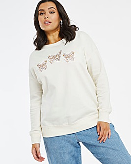 Gold foil butterfly sweatshirt
