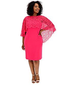 Gina Bacconi Lace Shift Dress