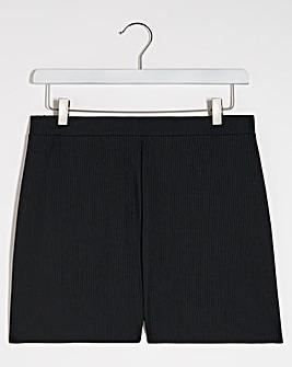 Black Ribbed Short