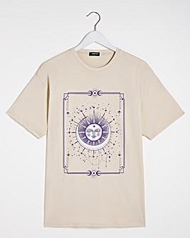 Beige Celestial Print T-Shirt