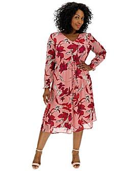Junarose Floral Printed Midi Dress