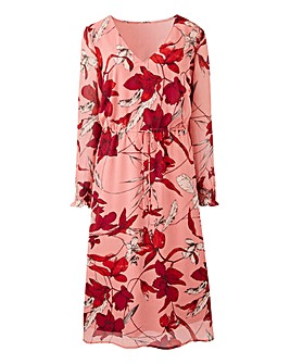 Junarose Allia Printed Midi Dress