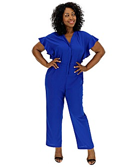 Junarose Button Front Jumpsuit