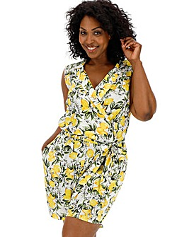 Junarose Limona Lemon Print Playsuit