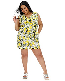 Junarose Lemon Print Playsuit
