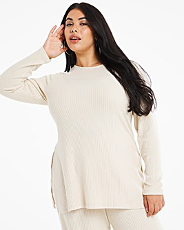 Oatmeal Split Side Tunic