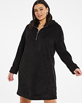Teddy Fur Sweat Dress