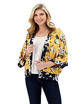 Oasis Curve Scarf Print Kimono Jacket