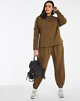 Premium Heavyweight Khaki Utility Hoodie