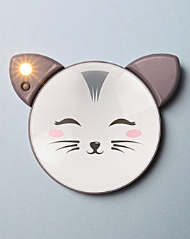 Light Up Handheld Cat Mirror