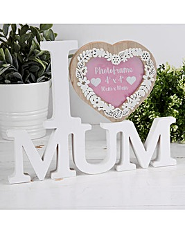 Heart Mum Photo Frame