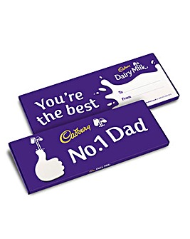 Cadbury No 1 Dad Dairy Milk 850g bar